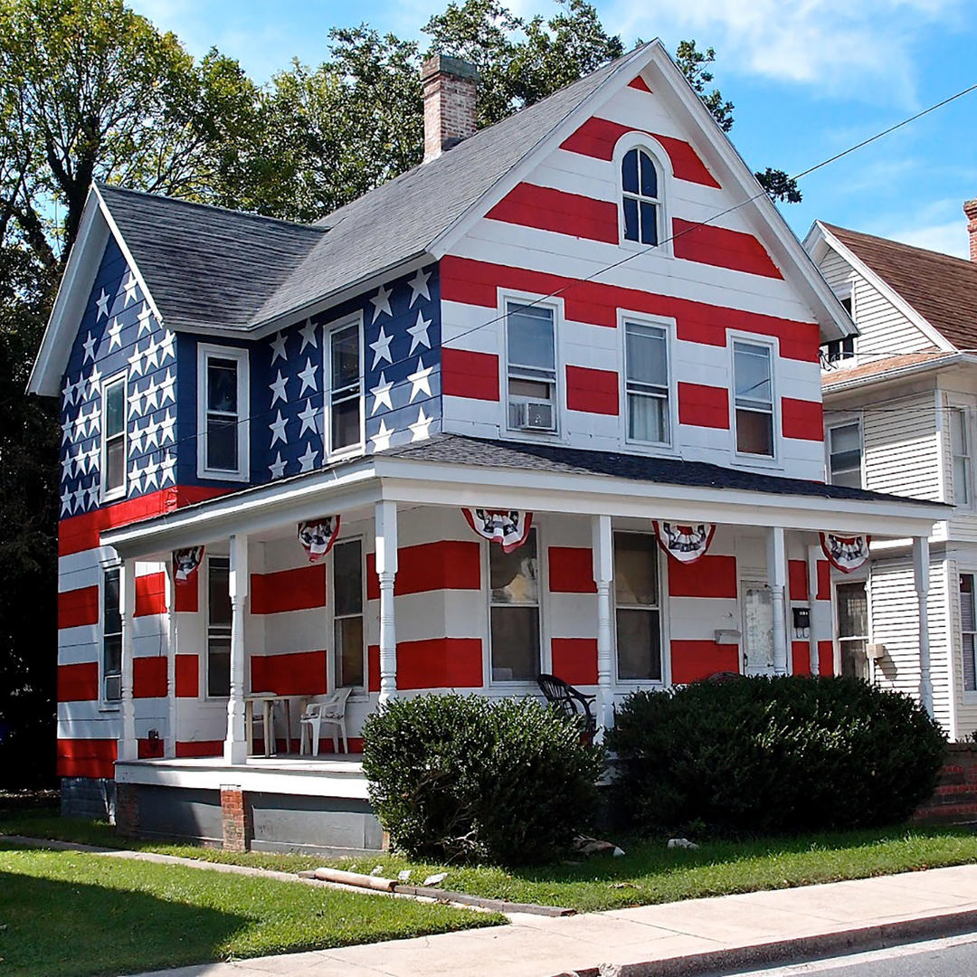American Flag House In Cambridge Md
