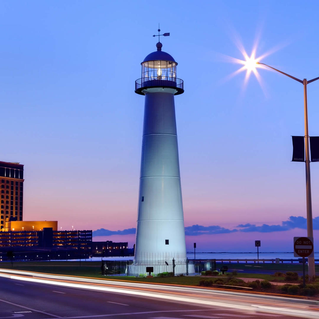 Biloxi Lighthouse In Biloxi Ms