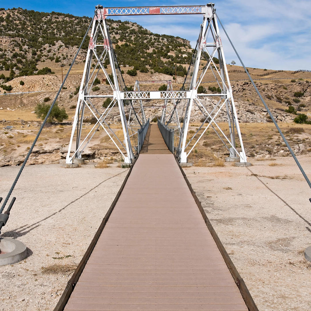 Hot Springs Swinging Bridge in Thermopolis, WY